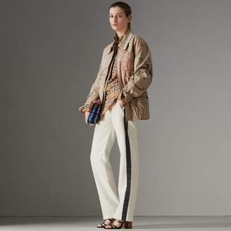 Burberry Stripe Silk Wool Sweatpants