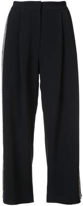 ADAM by Adam Lippes Stretch cady pleat front culottes with embellished sides