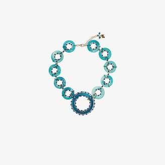 Rosantica blue ruote stone bead necklace