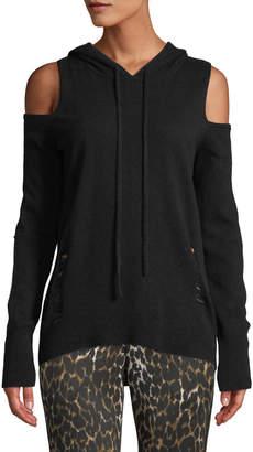 Pam & Gela Cold-Shoulder Hooded Sweater