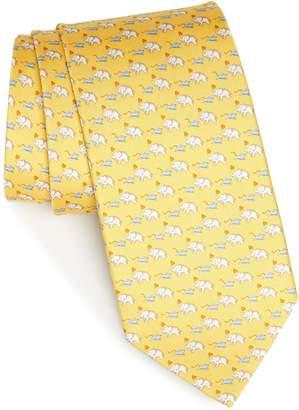 Salvatore Ferragamo Gerry Print Silk Tie