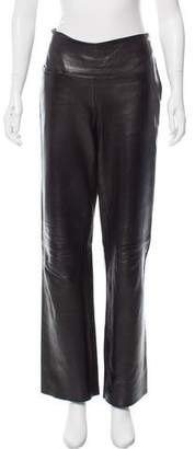 Hussein Chalayan Mid-Rise Leather Pants