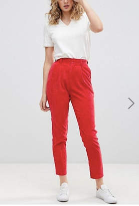 Daisy Street Red Corduroy Pants