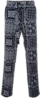 Sacai all-over print trousers