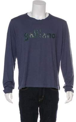 Galliano Long Sleeve Graphic T-Shirt w/ Tags
