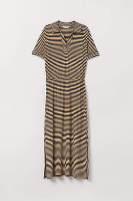 H&M Ribbed Dress - Beige