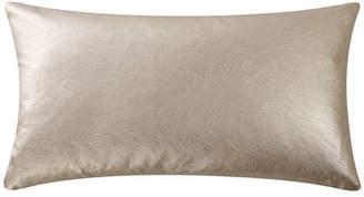 Highline Abstract Floral Metallic Decorative Pillow