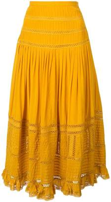 Sea Poppy midi skirt