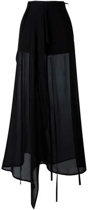 Ann Demeulemeester sheer wide leg trousers