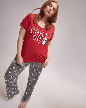 at Addition Elle · Penguin T-Shirt and Pants Pajama Set - Deesse Collection 8b840f454