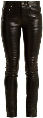 Saint Laurent Mid-rise skinny leather trousers