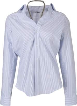 Alexander Wang alexanderwang Off Shoulder Oxford Shirt