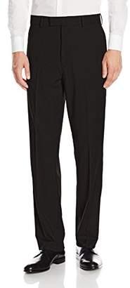 Savane Men's Flat Front Premium Flex Gabardine Dress Pants
