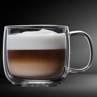 a5be23f60a1 Insulated Double Wall Mug Cup Glass-Set of 4 Mugs/