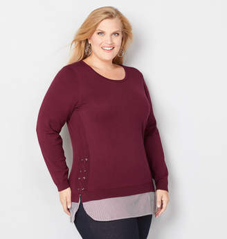 Avenue Grommet 2fer Sweater