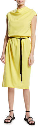 Marc Jacobs Cowl-Neck Tie-Waist Dress