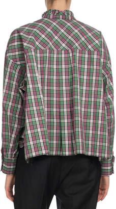 Etoile Isabel Marant Olena Gingham Check Button-Front Blouse
