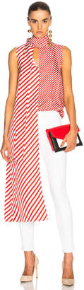 Monse for FWRD Striped Silk Top