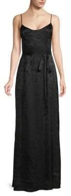 L'Agence Shani Print Tie Maxi Dress