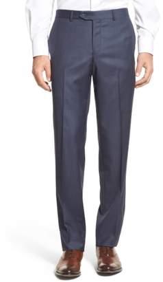 Nordstrom Flat Front Sharkskin Wool Trousers