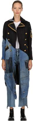 Greg Lauren 50/50 Wool & Vintage Denim Coat