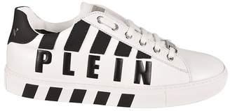 Philipp Plein Striped Logo Sneakers