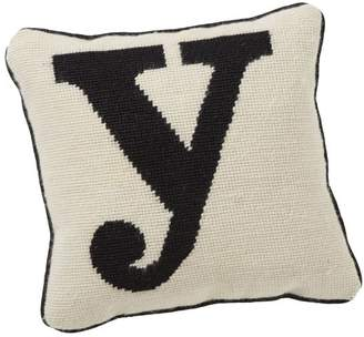 Pottery Barn Teen Alphabet Needlepoint Pillow, Y
