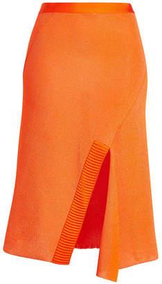 Victoria Beckham Knit Skirt with Cotton