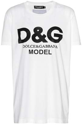 Dolce & Gabbana Model printed cotton T-shirt