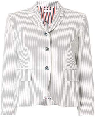 Thom Browne Classic Single Breasted Sport Coat With Half Lining In Seersucker