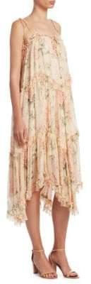 Zimmermann Silk Floral Handkerchief Midi