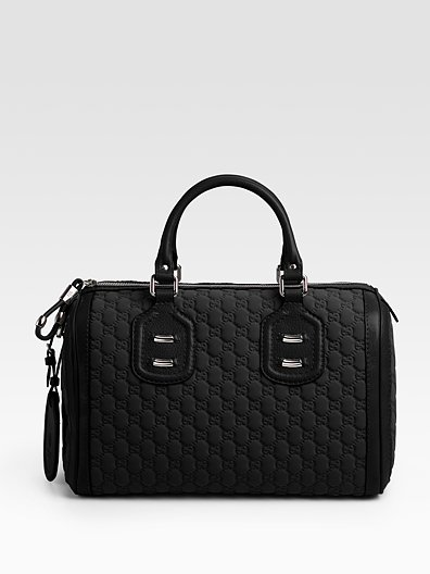 Gucci Techno Tag Medium Boston Bag