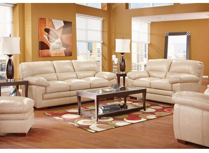 Argento Villa Toffee 5 Pc Leather Living Room