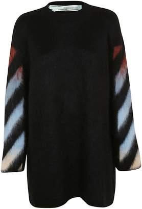 Off-White Off White Diag Intarsia Sweater