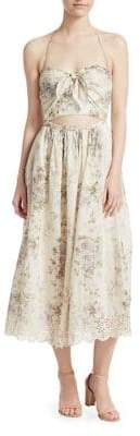 Zimmermann Iris Picnic Cut-out Midi Dress