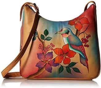 Anuschka Anna by Genuine Leather Hobo Shoulder Bag   Hand Painted Original Artwork  
