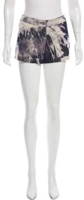 Celine Tie-Dye Mid-Rise Mini Shorts