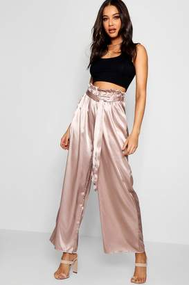 14c44607b1 boohoo Pink Women's Wide Leg Pants - ShopStyle