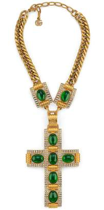 Gucci Cross necklace with cabochon stones