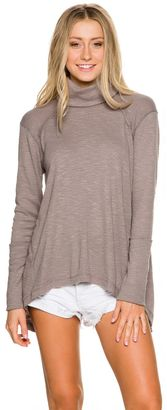 Free People Long Sleeve Turtle Neck Tee $68 thestylecure.com