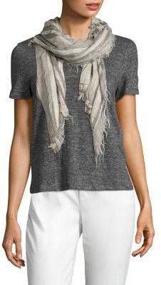 Eileen Fisher Striped Scarf $158 thestylecure.com