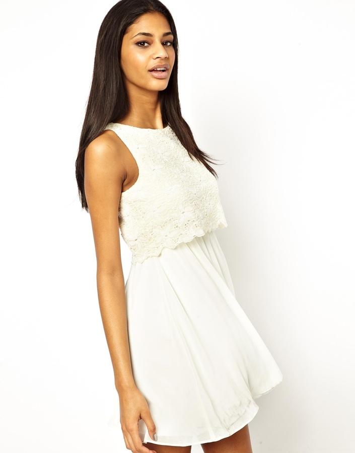 TFNC Dress Layered Lace Babydoll