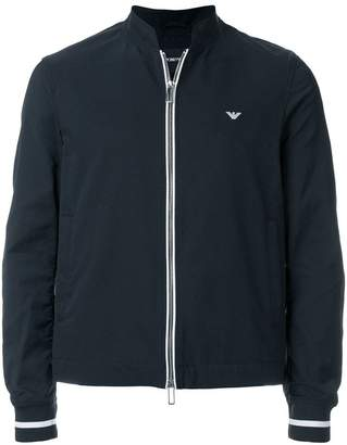 Emporio Armani contrast-trim bomber jacket