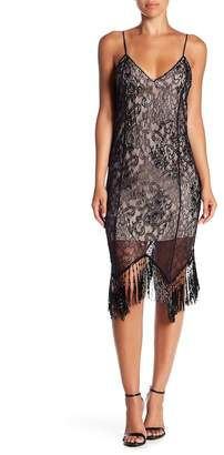 Haute Hippie Beaded Fringe Embellished Flapper Dress