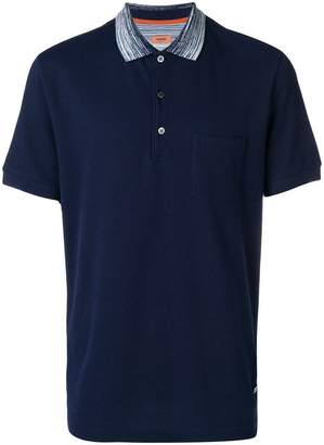 Missoni contrasting collar polo shirt
