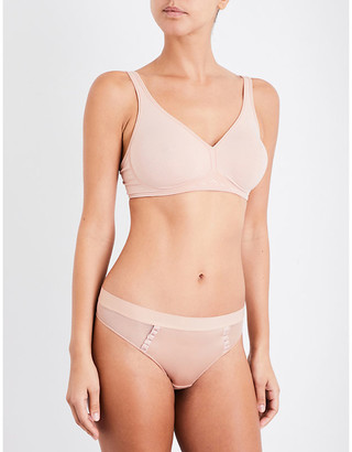 Wolford Signature Skin soft-cup stretch-cotton bra