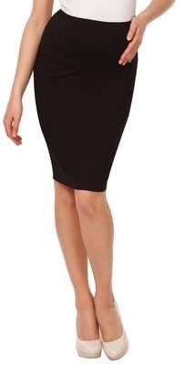 Happy Mama Boutique Happy Mama. Womens Maternity Pencil Skirt Overbump Elastic Panel Pregnancy. 066p (