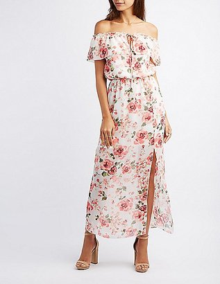Floral Off-The-Shoulder Maxi Dress $36.99 thestylecure.com