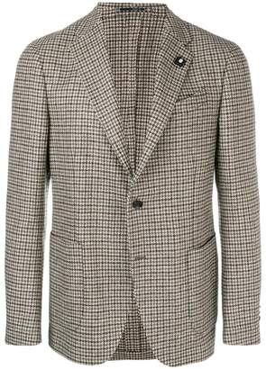 Lardini houndstooth print tailored blazer