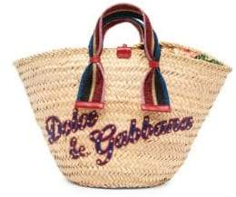 Dolce & Gabbana Raffia Glitter Tote